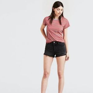 501® High Rise Black Shorts LEVI'S® PREMIUM
